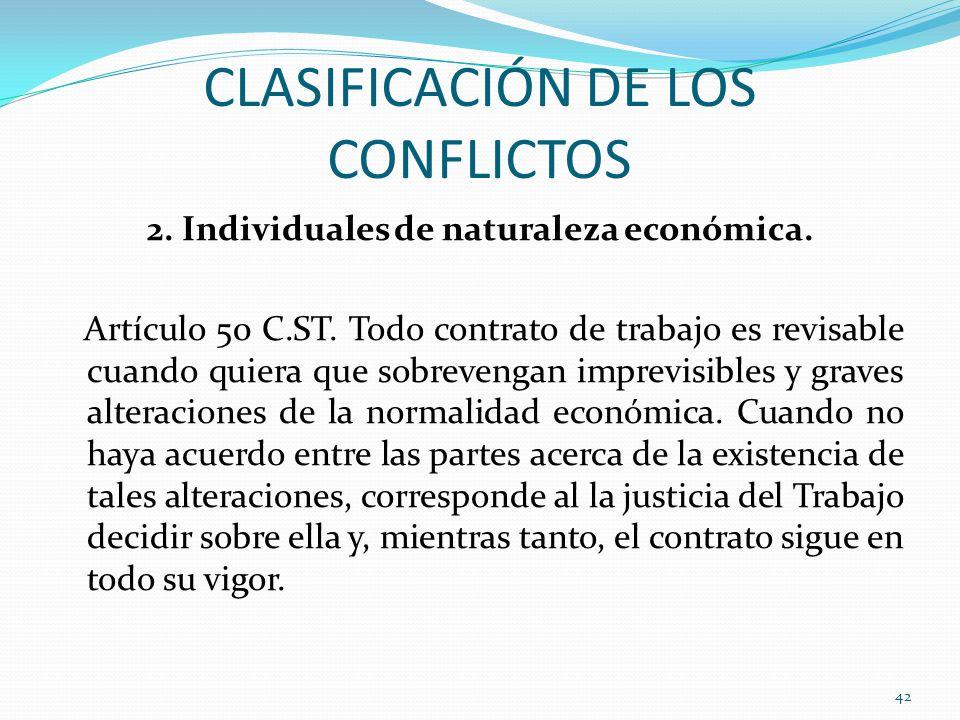 CLASIFICACIÓN DE LOS CONFLICTOS