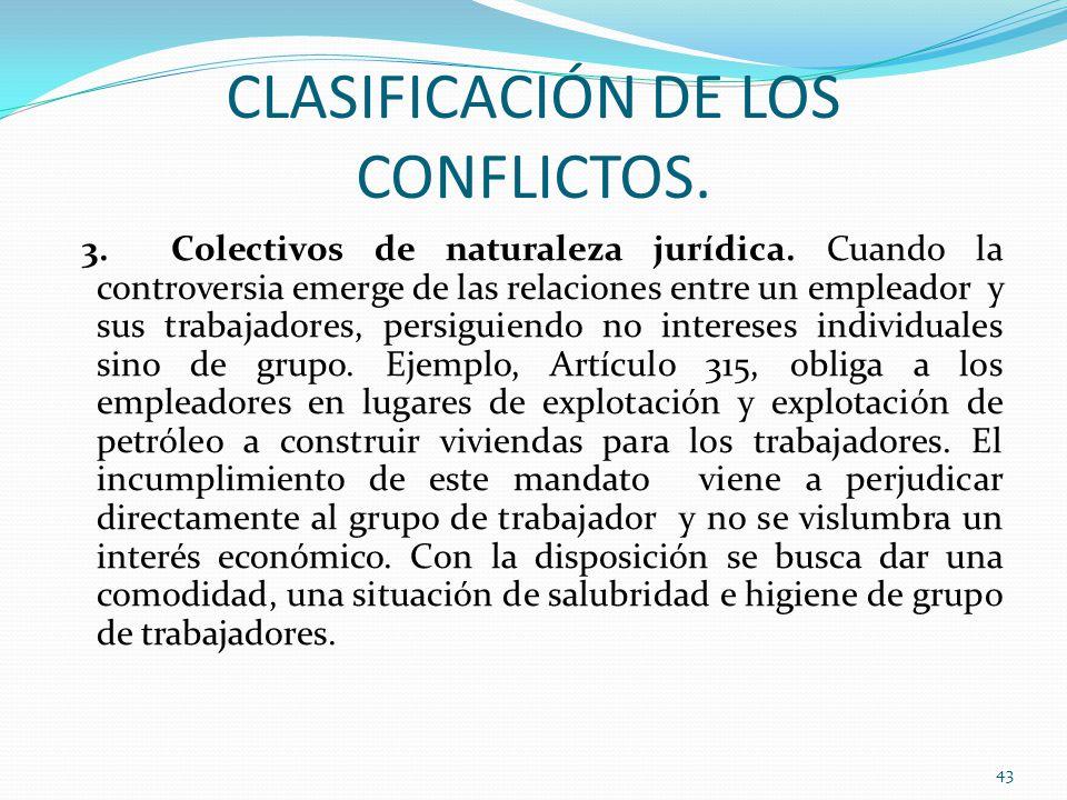 CLASIFICACIÓN DE LOS CONFLICTOS.