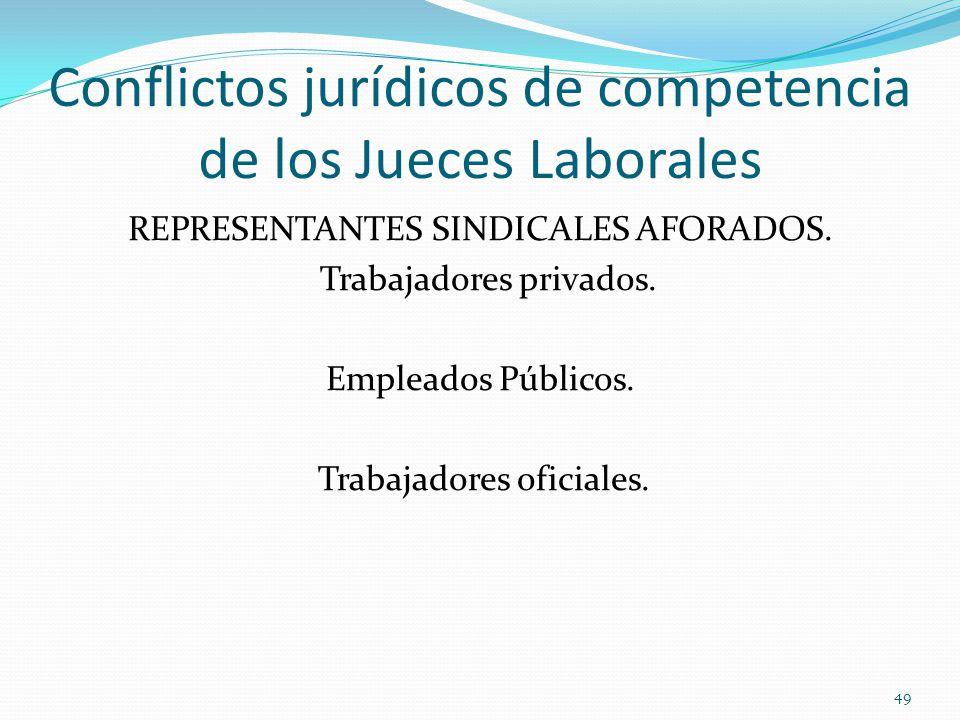 Conflictos jurídicos de competencia de los Jueces Laborales