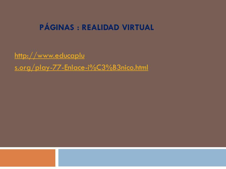 Páginas : realidad virtual