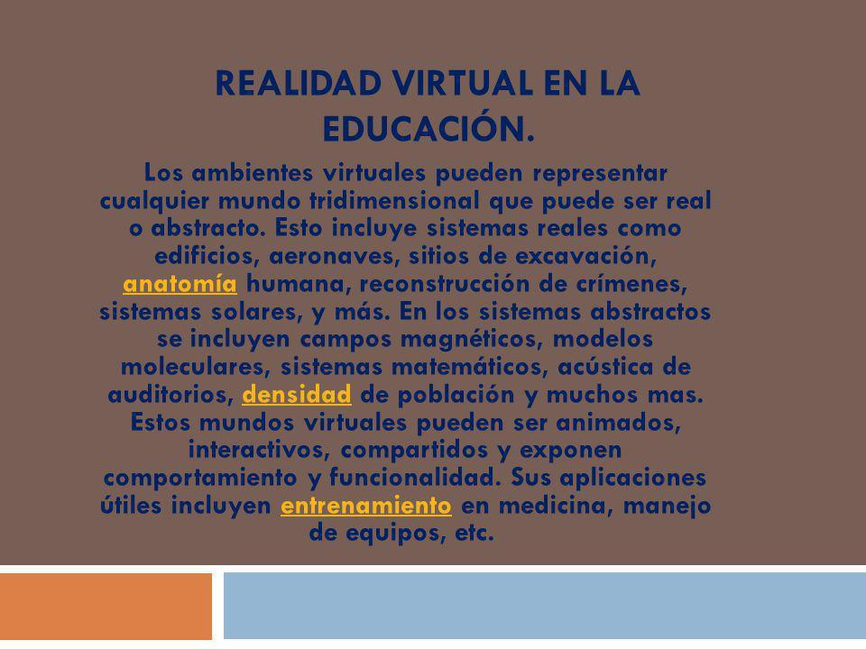 REALIDAD VIRTUAL EN LA EDUCACIÓN.