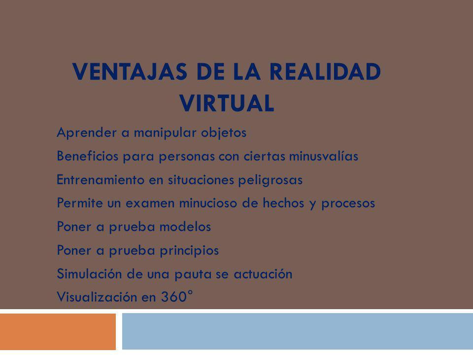 Ventajas de la realidad virtual