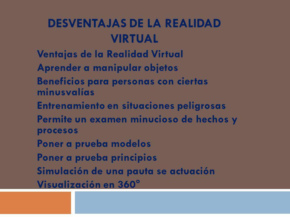 Desventajas de la realidad virtual