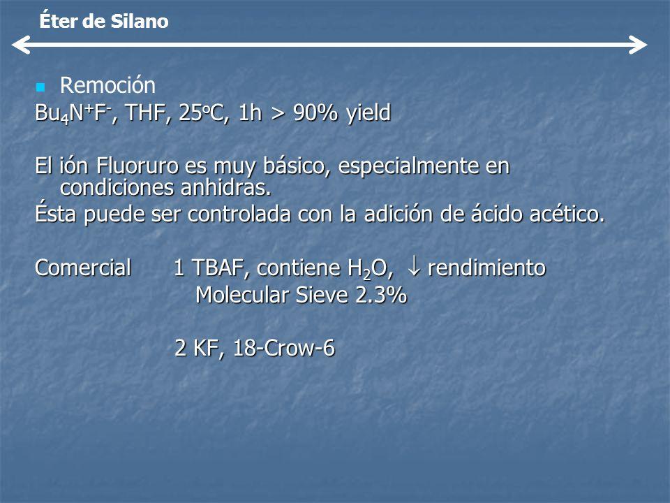Bu4N+F-, THF, 25oC, 1h > 90% yield