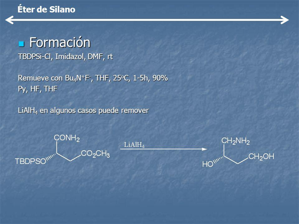 Formación Éter de Silano TBDPSi-Cl, Imidazol, DMF, rt