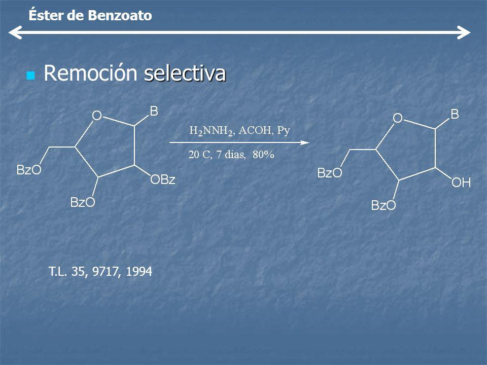 Éster de Benzoato Remoción selectiva T.L. 35, 9717, 1994