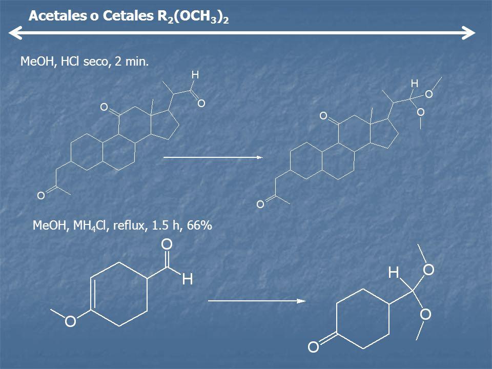 Acetales o Cetales R2(OCH3)2