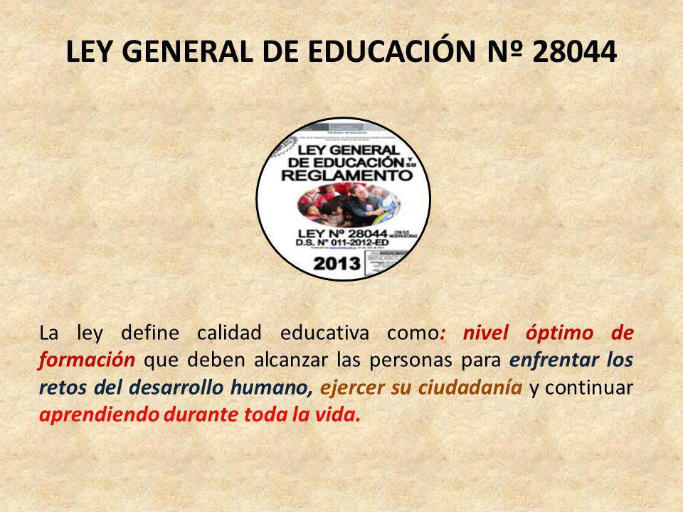 LEY GENERAL DE EDUCACIÓN Nº 28044