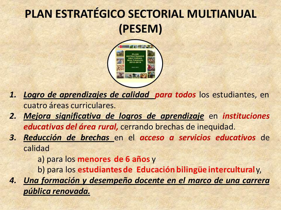Plan Estratégico Sectorial Multianual (PESEM)