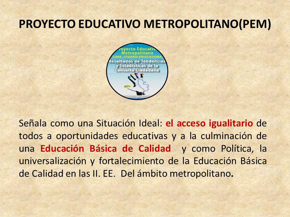 PROYECTO EDUCATIVO METROPOLITANO(PEM)