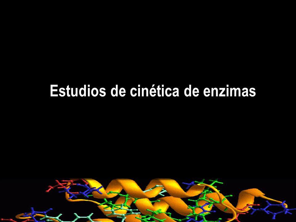 Estudios de cinética de enzimas