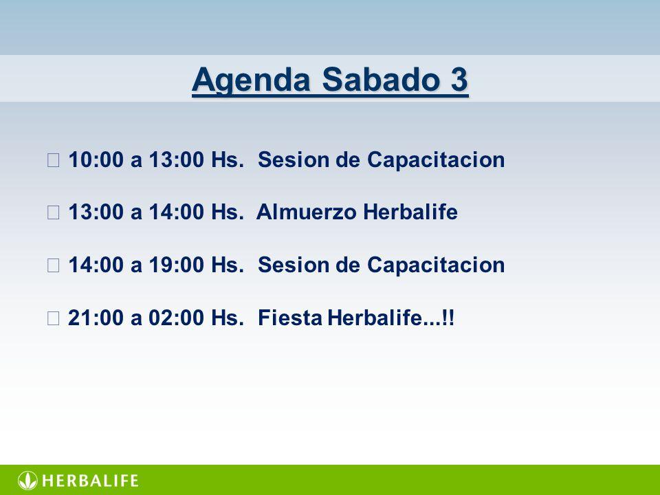 Agenda Sabado 3  10:00 a 13:00 Hs. Sesion de Capacitacion