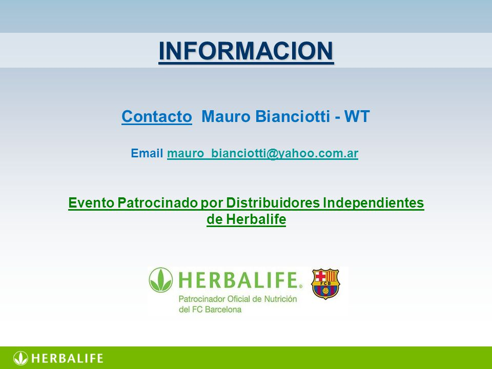 INFORMACION Contacto Mauro Bianciotti - WT