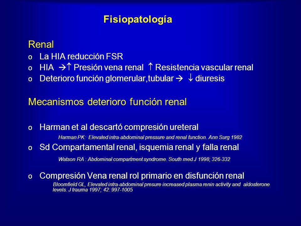 Mecanismos deterioro función renal