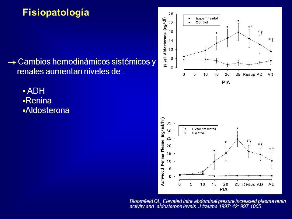 Fisiopatología Cambios hemodinámicos sistémicos y