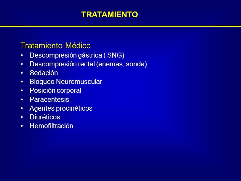 TRATAMIENTO Tratamiento Médico Descompresión gástrica ( SNG)