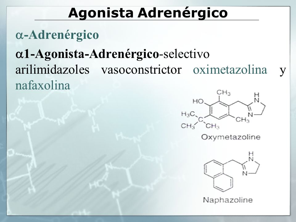 Agonista Adrenérgico -Adrenérgico.