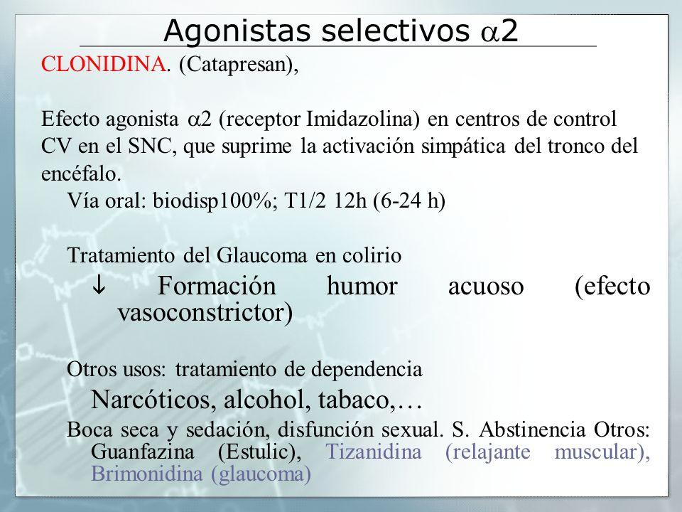 Agonistas selectivos a2
