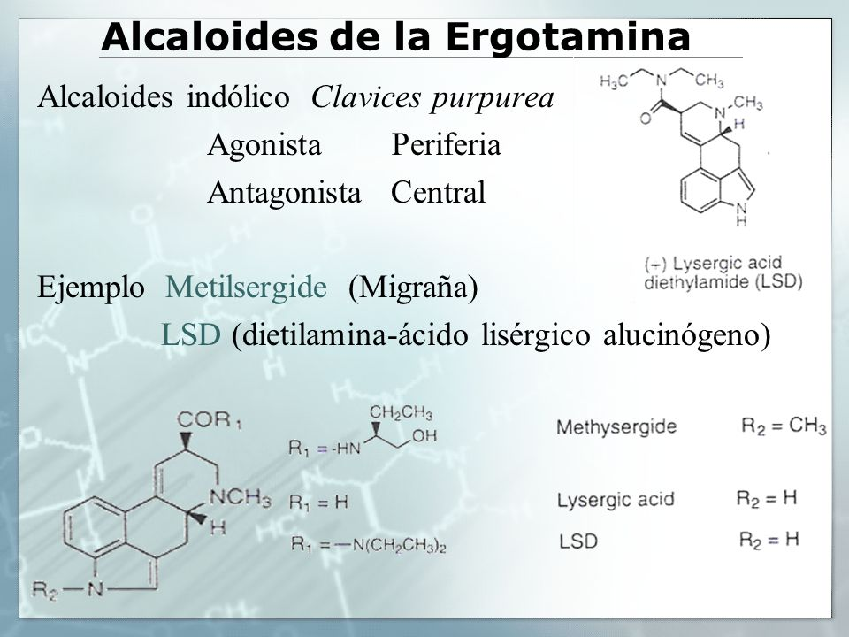 Alcaloides de la Ergotamina