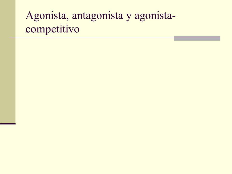 Agonista, antagonista y agonista- competitivo