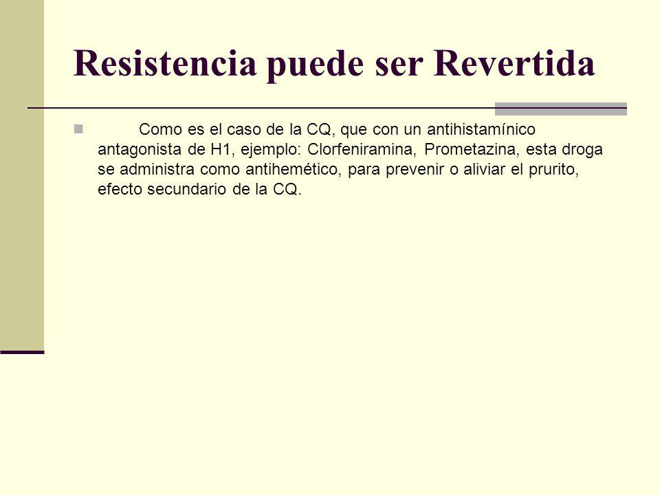 Resistencia puede ser Revertida