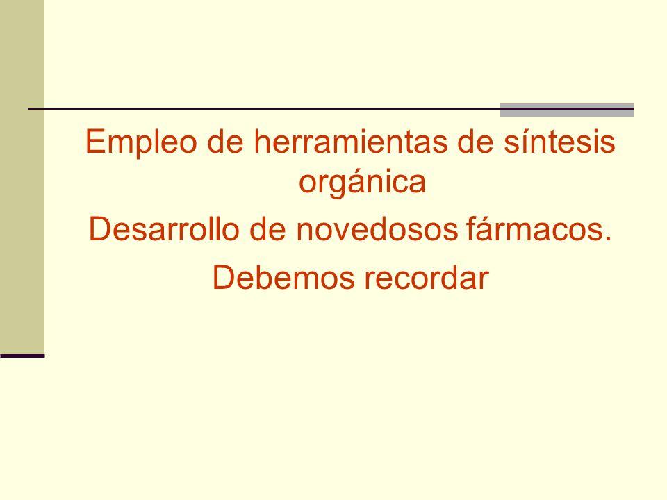 Empleo de herramientas de síntesis orgánica