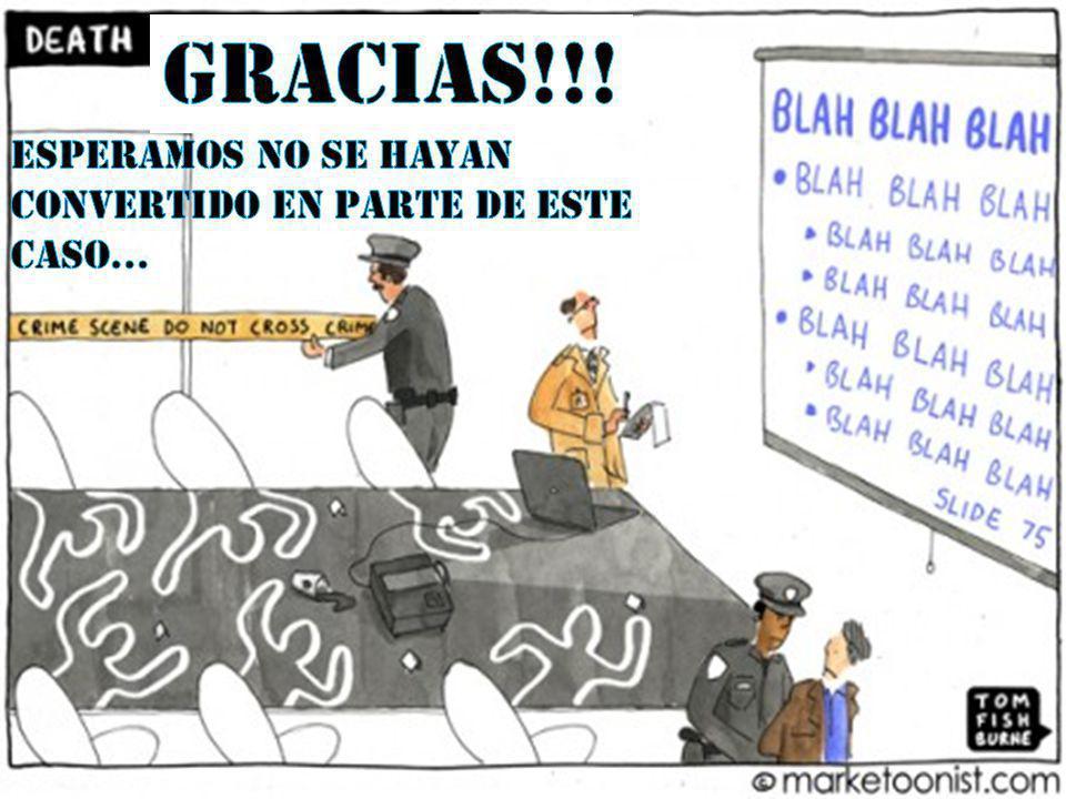 GRACIAS!!! ESPERAMOS NO SE hayan Convertido EN PARTE DE ESTE CASO…