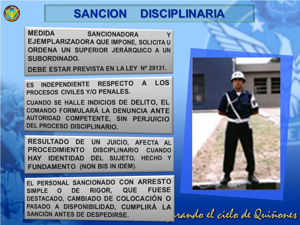 SANCION DISCIPLINARIA