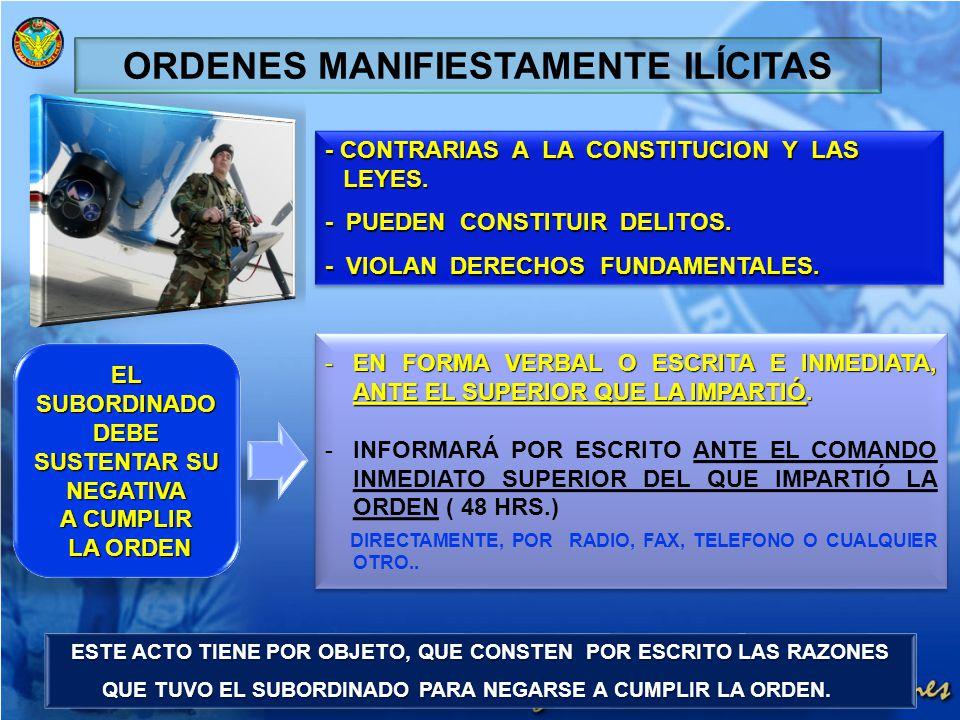 ORDENES MANIFIESTAMENTE ILÍCITAS