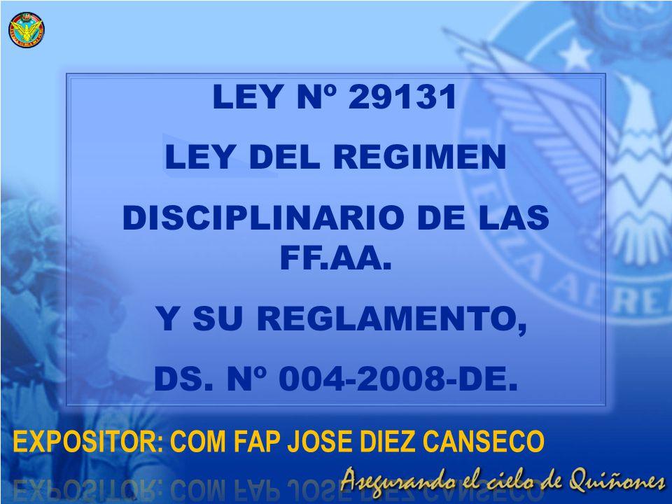 DISCIPLINARIO DE LAS FF.AA.