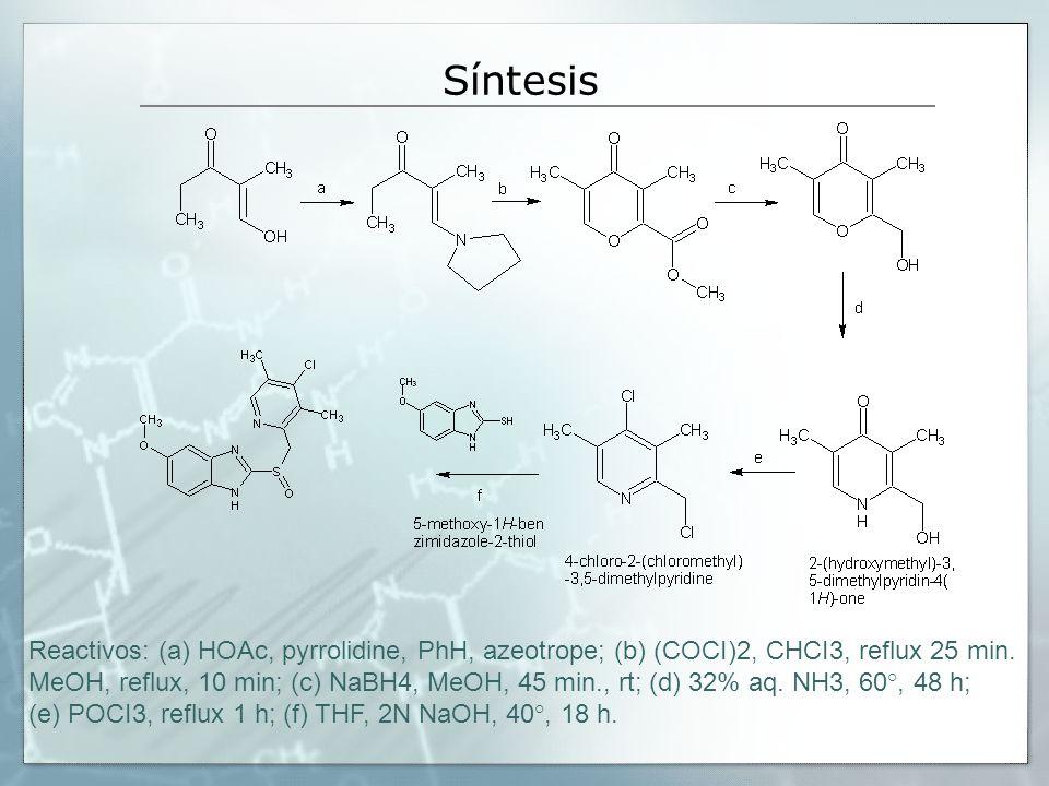 Síntesis Reactivos: (a) HOAc, pyrrolidine, PhH, azeotrope; (b) (COCI)2, CHCI3, reflux 25 min.
