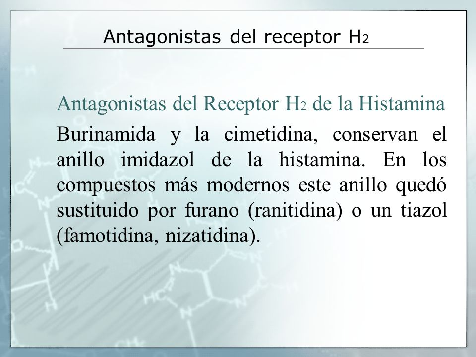 Antagonistas del receptor H2