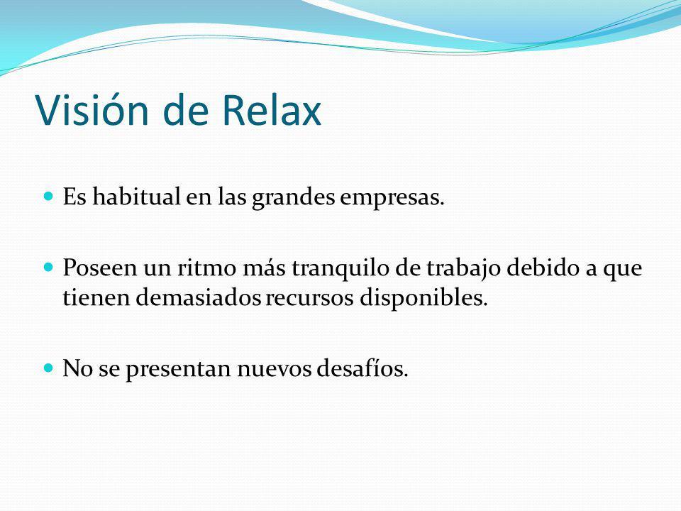 Visión de Relax Es habitual en las grandes empresas.