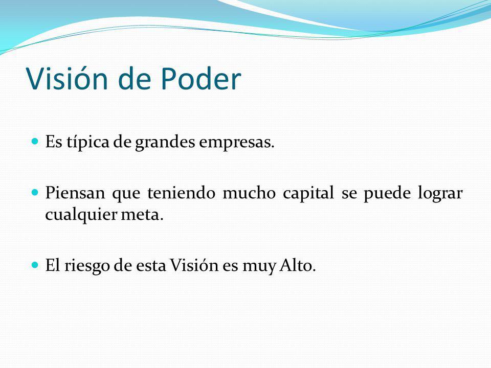 Visión de Poder Es típica de grandes empresas.