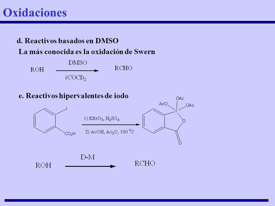 Oxidaciones d. Reactivos basados en DMSO