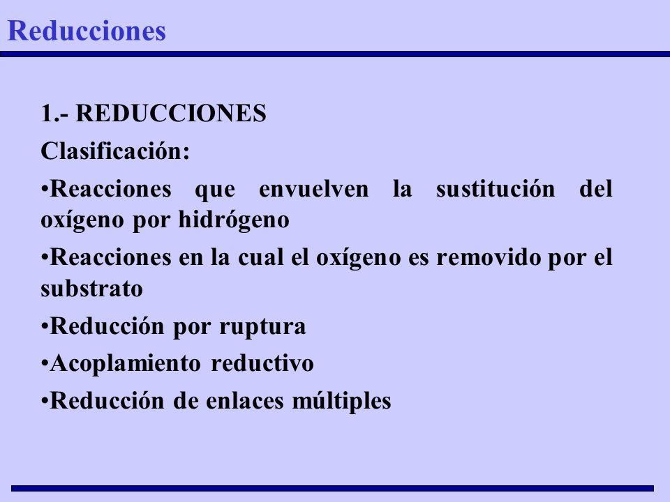 Reducciones 1.- REDUCCIONES Clasificación:
