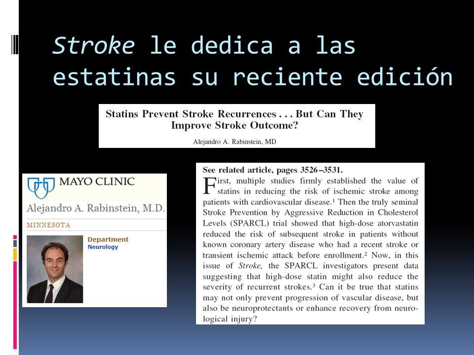 Stroke le dedica a las estatinas su reciente edición
