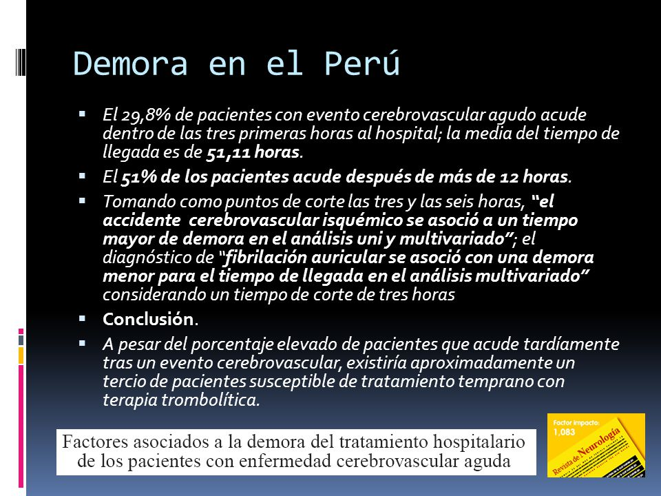 Demora en el Perú