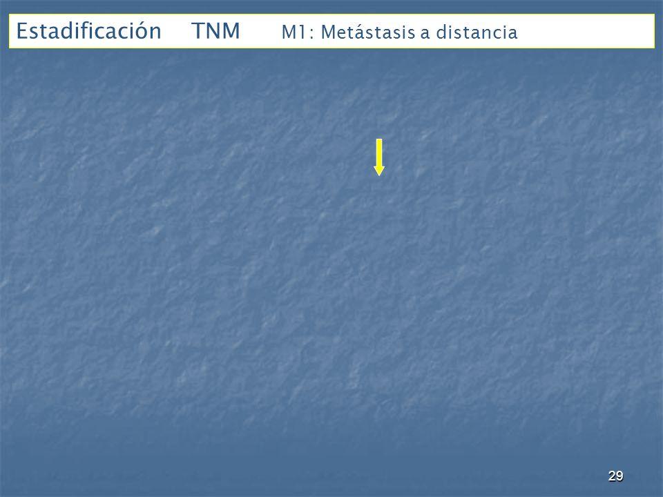 Estadificación TNM M1: Metástasis a distancia