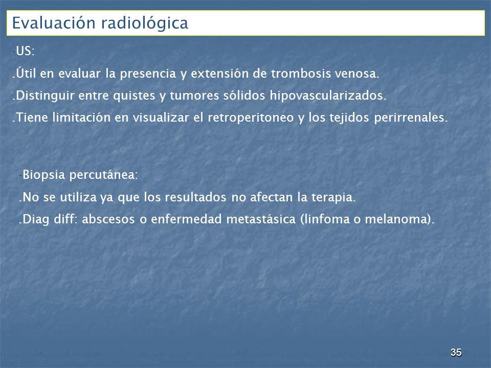 Evaluación radiológica