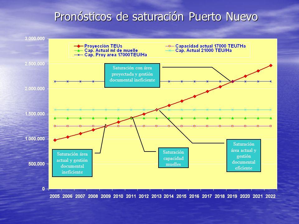 Pronósticos de saturación Puerto Nuevo