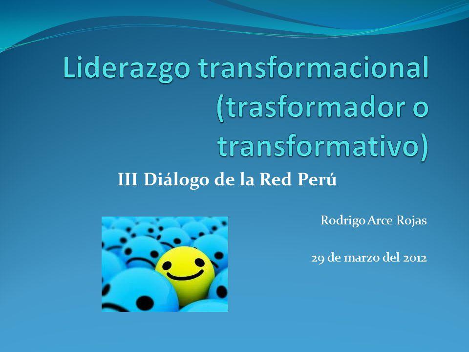 Liderazgo transformacional (trasformador o transformativo)