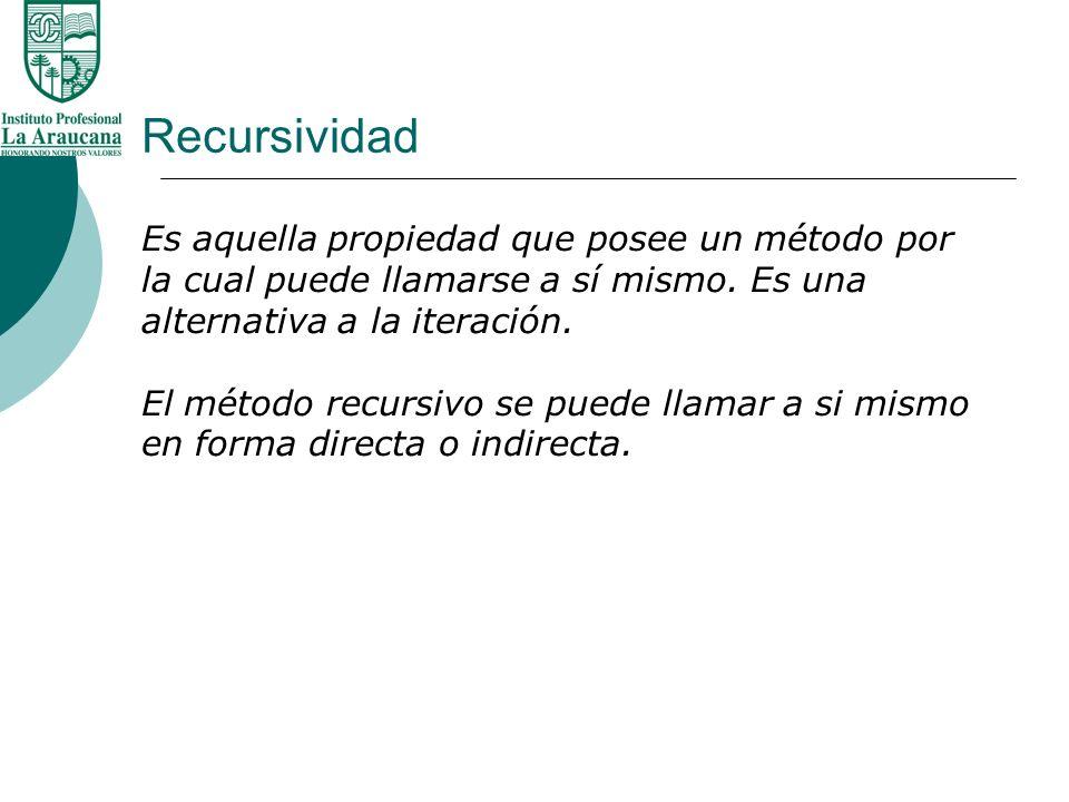 Recursividad