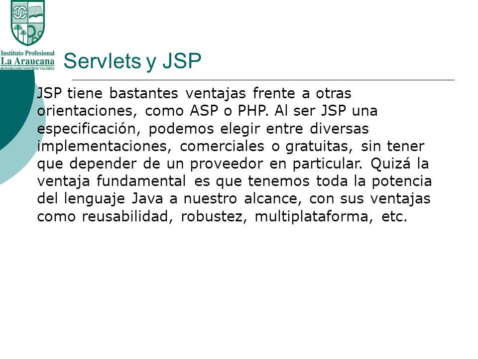 Servlets y JSP