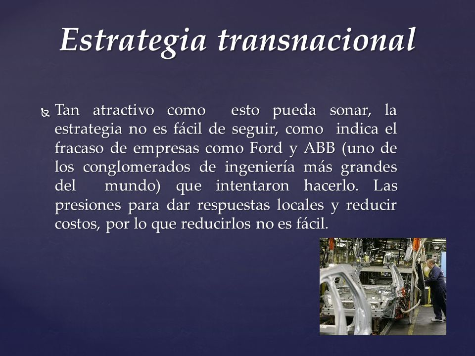 Estrategia transnacional