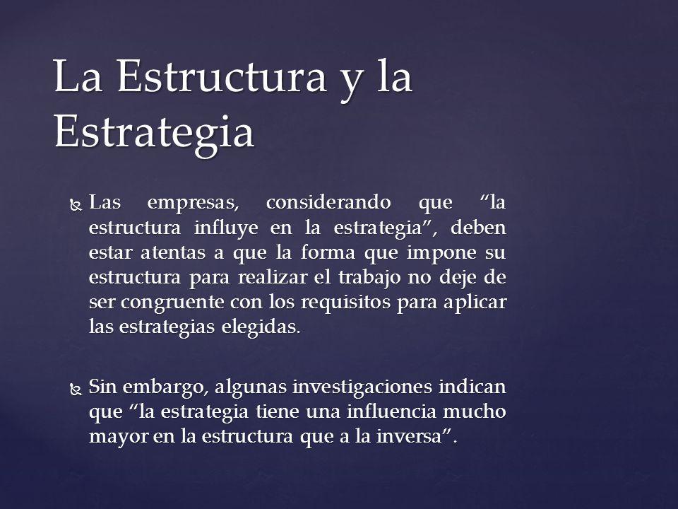La Estructura y la Estrategia