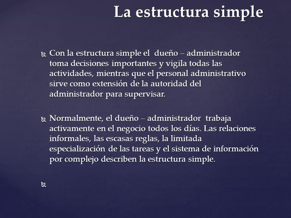 La estructura simple