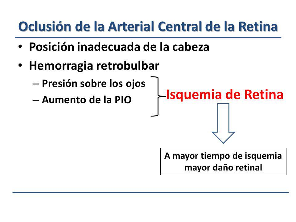 Oclusión de la Arterial Central de la Retina