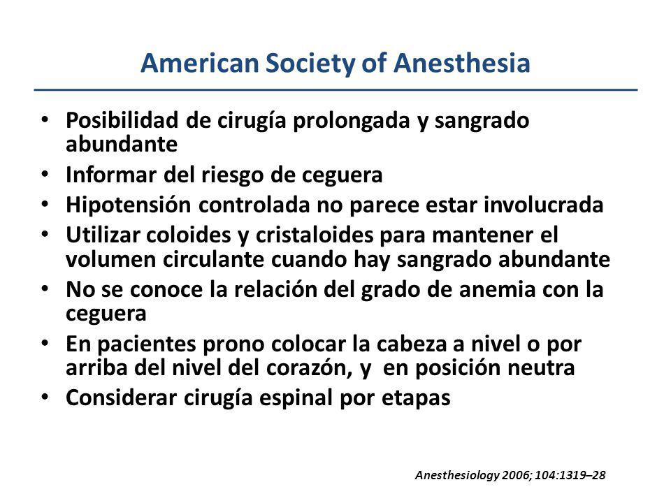 American Society of Anesthesia