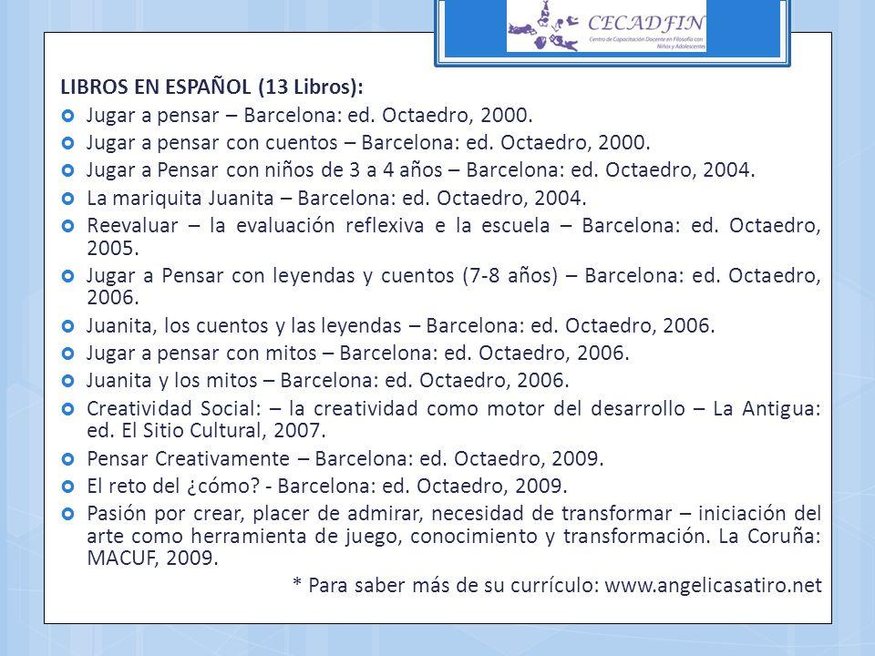 LIBROS EN ESPAÑOL (13 Libros):